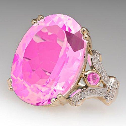 LnLyin Größe 5-12 Damen Hochzeit Ring Natürlichen Edelstein Saphir Diamant Ring Braut Hochzeit Edlen Schmuck Ring Geschenk (Saphir-ring Größe 7)