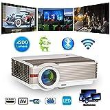 5000 Lumen LED HD Projecteur Bluetooth WiFi sans Fil HDMI Haute Résolution LCD WXGA...