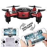 Anyutai Mini Pocket Drone pieghevole per bambini, Telecamera WiFi FPV...