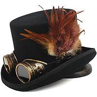 YQXR Moda Sombreros Steampunk top hat 4 sombrero de fedora del sombrero del sombrero  de la fiesta del té de los hombres de lana del tamaño de las mujeres ... fd59e02085a
