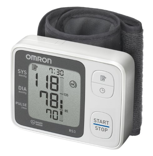 OMRON RS3 - Tensiómetro digital de muñeca, detección de movimiento corporal y de pulso arrítmico, validado clínicamente