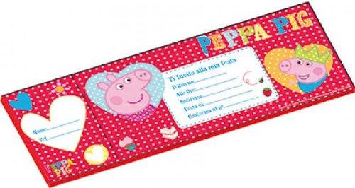 Inviti di compleanno Peppa Pig