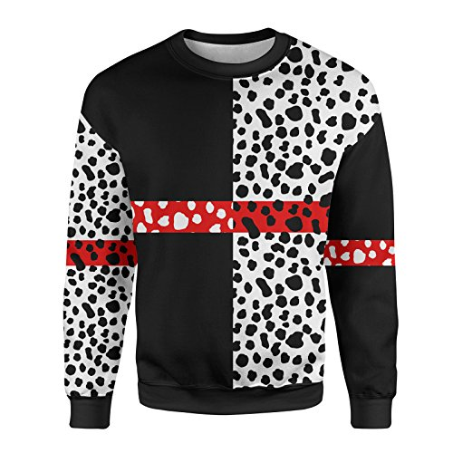 Cruella de Vil Disney Villains Inspired Mens Sweatshirt