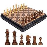 Love lamp De Haute qualité en Bois d'échecs en Bois Massif Double Type de tiroir Échiquier Jeu d'échecs Jeu dédié for Adultes ou Enfants Set Jeu de société