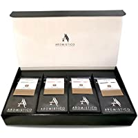 AROMISTICO COFFEE | VARIETY SELECTIONs CLASSIC COFFEE GIFT SET | Selection of Premium Italian Blends | Whole Coffee Beans HAMPER (1 Venezia, 1 Roma, 1 Firenze and 1 Napoli Blend - WHOLE BEANS COFFEE )