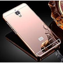Prevoa ® 丨 Aluminum Bumper Funda PC Back Case para Xiaomi 4 M4 Mi4 5.0 Pulgadas Smartphone - Rosa