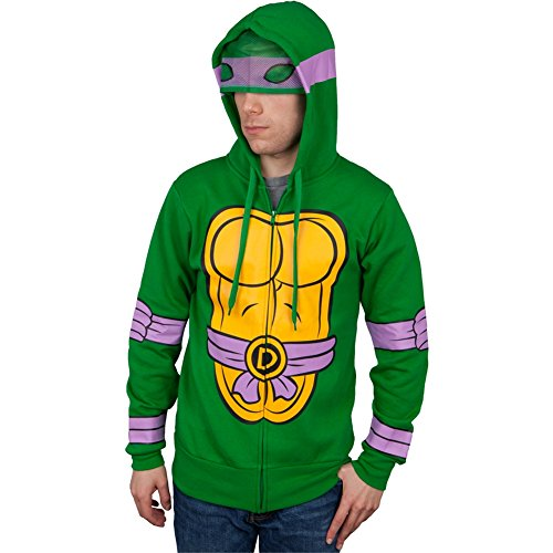Teenage Mutant Ninja Turtles - ich bin Donetello Kostüm Zip Hoodie - ()