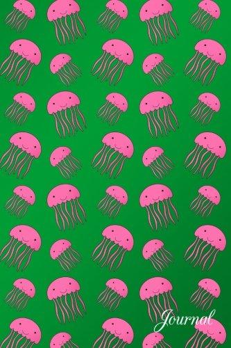 Journal: Green cute pink jellyfish notebook por Brothergravydesigns