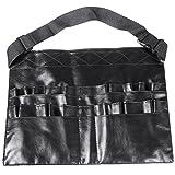 TRIXES verstellbare schwarze PVC Profi Make-Up Pinsel Gürtel Tasche mit 28 Fächern