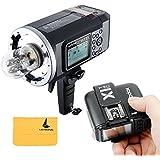Godox AD600B Flash TTL Bowens Mount Puissant Extérieur Portable GN87 600W HSS 1/8000s 2,4G Sans Fil avec 8700mAh Lithium PowerPack Intégré + X1T-C Flash Déclencheur Transmetteur Emetteur pour Canon EOS Caméra DSLR