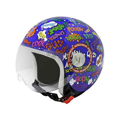 Scotland Casco Scooter Moto Bambino Omologato ECE2205 Rodeo Drive RD109 Splash (54)