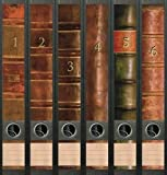 6er Set Ordnerrücken für schmale Ordner Bücher 1 - 6