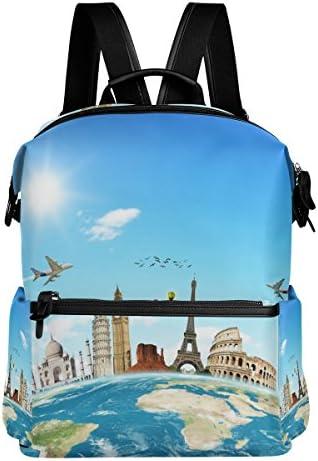 COOSUN Viaggia in tutto lo lo lo Zaino di viaggio World School Multi   Facile Da Pulire Surface    Elegante e divertente    scarseggia  403e0c