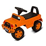 #6: Baybee Baby Ride On with Music ~ Jeep Ride On Push Car Toy I Suitable for Boys & Girls ( Orange )