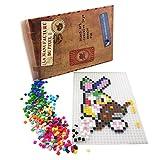 La Manufacture du Pixel - Kit Tapis et 900 Pixels à insérer (Translucide) - Pixel Art, Loisir Créatif, Mosaïque, Fun ! - Créez à l'infini Tout l'art Qui Vous Ressemble