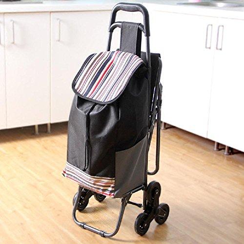 Cartoncino pieghevole da grande capacità da 6 ruote / leggero Grande per la mobilità Carrello di scalata di facile utilizzo