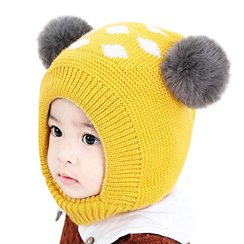 Winter Warm Crochet Strickmütze Beanie Cap Schal Set -