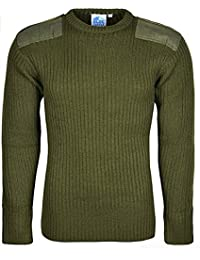 0ca78605 Castle Clothing Mens Army Security Jumper Pullover Crew Neck Long Sleeves  Knitted Top