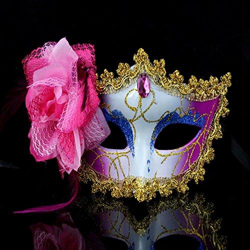 spritech (TM) Seite Rose Blumen Halloween Dance Party Princess Venedig Maske (Blume Maske)