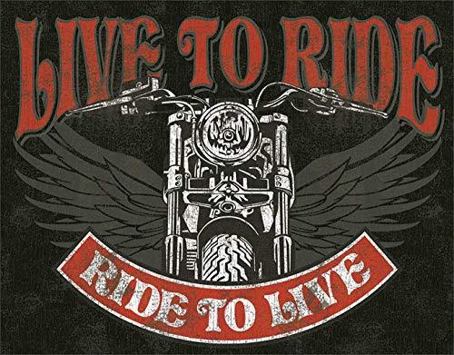Sary buri Live to Ride Bike Wandkunst Garage Club Bar Dekoration -