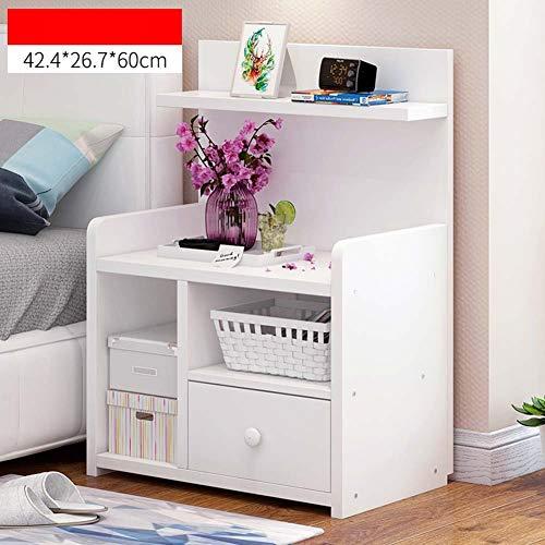 IG Haushalt Nachttische Nachttisch mit Schublade Holzwerkstoff, Schlafzimmer Nachttisch Aufbewahrungsbox,# 2,42,4 * 26,7 * 60 cm - 2 Schubladen Naturholz-nachttisch