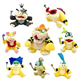 Yijinbo 8X Super Mario Bros Koopalings Peluche Rey Bowser Lemmy Larry Roy Wendy O. Morton Larry Iggy Peluche Animal Suave