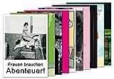 10er-Set: Postkarten A6 +++ MIX SET Nr. 1 von modern times +++ 10 lustige TYPISCH FRAU-Motive +++