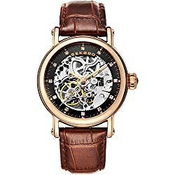 Automatic mechanical watches/Fashion strap waterproof watch/Simple leisure hollow's Watch-D