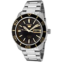 Stainless Steel Seiko 5 Sports Automatic Two Tone Black Dial Bezel de Seiko