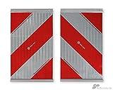 Warnmarkierungen für Hubladebühnen, 250 mm x 400 mm, linksweisend & rechtsweisend, 2 Stück