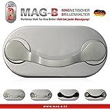 MAG-B soporte para gafas magnético (acero inoxidable pulido)