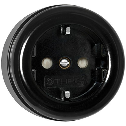 AP-Steckdose-mit-Kinderschutz-16A250V-IP20-Bakelit-schwarz