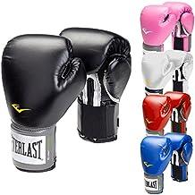 Everlast–Guantes de boxeo Pro Style Negro Rojo Azul Blanco Rosa 810121416oz, color negro, tamaño 300 ml