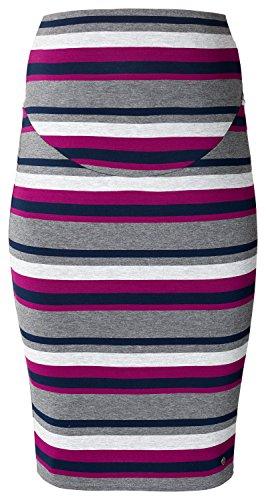 ESPRIT Maternity Damen Umstands Rock Skirt OTB mid, Knielang, Einfarbig 486 - Night Blue