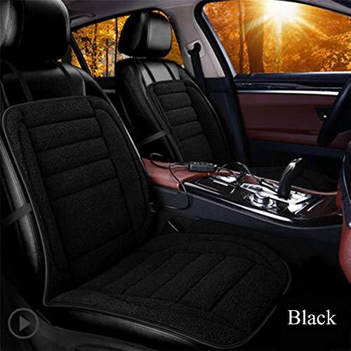 YSH 12 V Lamm Kaschmir Beheizte Autositz Auto Styling Winter Pad Autositzkissen Elektrische Beheizte Matte,Bblack