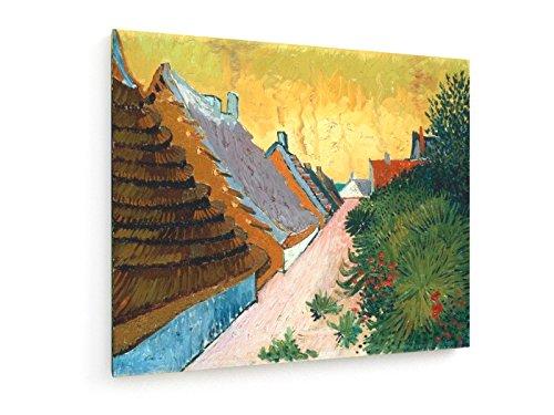 Vincent Van Gogh - Straße in Saintes-Maries - 60x50 cm - Textil-Leinwandbild auf Keilrahmen - Wand-Bild - Kunst, Gemälde, Foto, Bild auf Leinwand - Alte Meister / Museum (Foto Tex)