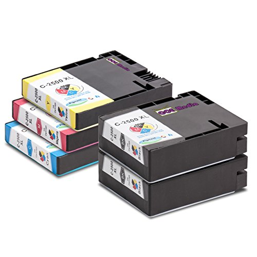 5-compatible-cartridges-for-canon-pgi-2500-xl-ink-includes-2x-bk-70ml-1x-c-m-y-20ml-suitable-for-can