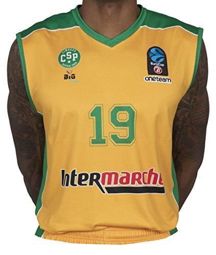 Bigsport Replica Hayes FIBA Eurocup Limoges CSP Hause Basketball Trikot Jungen XL gelb