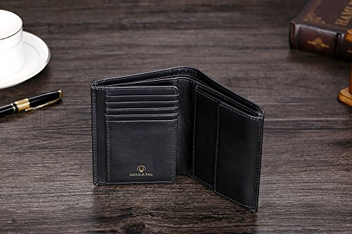 51ZeHtoHarL - Cronus & Rhea® | Luxury wallet with coin pocket made of exclusive leather (Charon) | Wallet - Wallet - Wallet - Money Clip | Real leather | With elegant gift box | Men