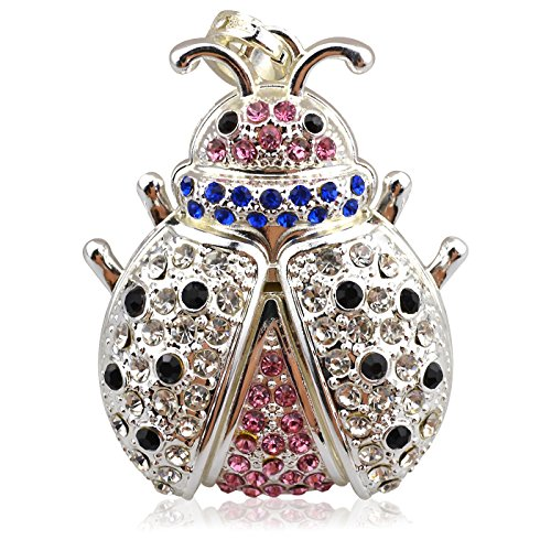 818-Shop No13800070008 USB-Sticks (8 GB) Käfer Diamant Metall 3D silber