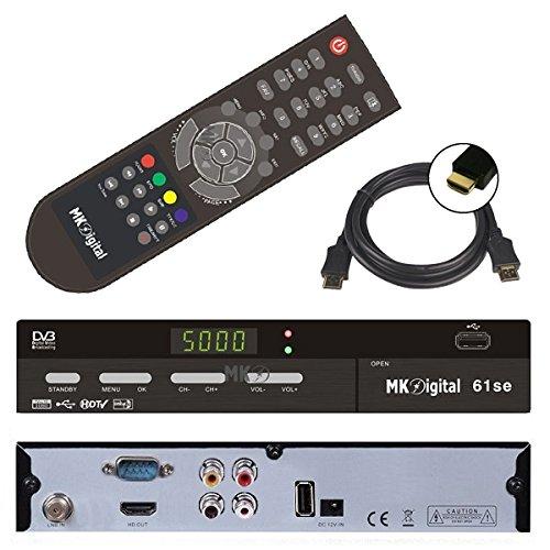 HD Sat Receiver MK Digital (USB, HDMI, Audio cinch, Digital Audio Out, FULL HDTV, DVB-S2) + GRATIS HDMI Kabel - netshop25 SET