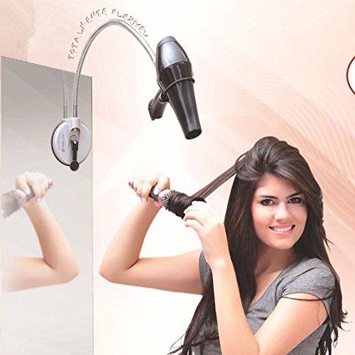 Preisvergleich Produktbild 360-Grad-Edelstahl-Sauger für Hände frei Haar Trockner rack