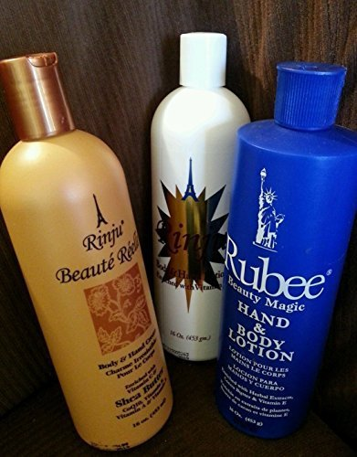 Lotion Body Rinju (Rinju Body Hand Lotion & Beaute Reele & Rubee Beauty Magic 16oz (Set) by Rinju & Rubee)