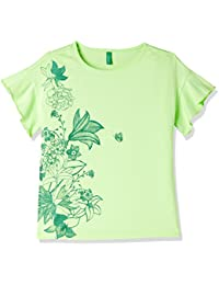 United Colors of Benetton Girl's Plain Regular Fit T-Shirt