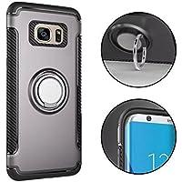 Galaxy S7 Funda Soporte de Coche,MingKun Coche Auto Soporte Carcasa para Samsung Galaxy S7 Borde de Gel de Silicona TPU Cover