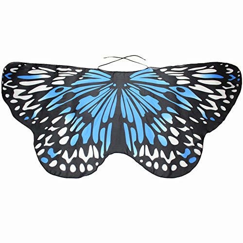 Frauen Amor Kostüm - JMETRIC Damen Schmetterling Kostüm Zubehör Tanz Kostüm Für Karneval Freizeit Party Eltern-Kind Faschingkostüme (Blau)