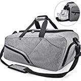 NUBILY Gym Bag Sports Duffle Bag with Shoe Compartment Waterproof Large Travel Holdall