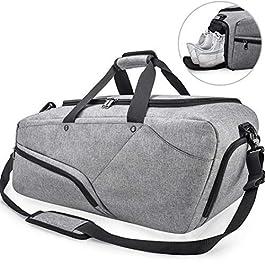 Borsone Palestra Uomo Borsa Sportiva Grande con Scomparto Scarpe Duffel Bag Borsone da Viaggio Impermeable Borsoni per…