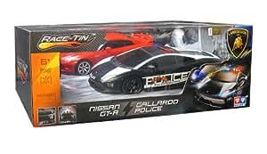 Modelco - 42YW299911-1 - Véhicule Miniature - Lot de 2 Voitures Prestige Lamborghini et Nissan Course Poursuite - Echelle 1:16