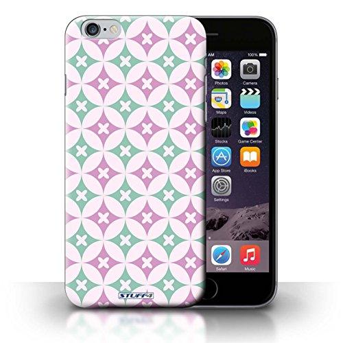 Kobalt® Imprimé Etui / Coque pour iPhone 6+/Plus 5.5 / Rouge / Bleu conception / Série Kaléidoscope Rose vive / vert